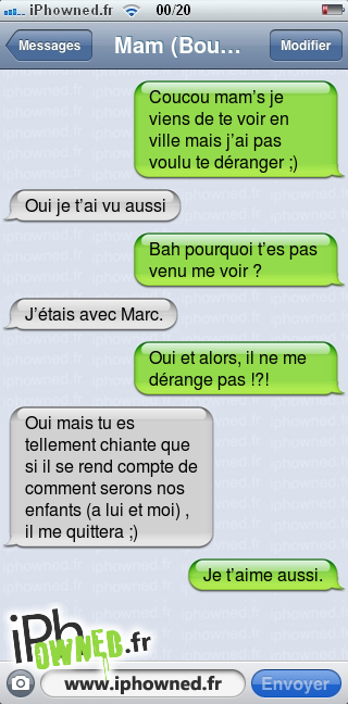 iphowned message sms drole texto rigolo blagues message sms moi aussi je t 39 aime. Black Bedroom Furniture Sets. Home Design Ideas