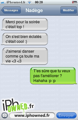 Iphowned Message Sms Drole Texto Rigolo Blagues Message Sms Ce Soir On Danse