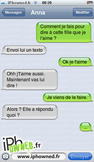 iphowned message sms drole texto rigolo blagues message sms comment lui dire que je l 39 aime. Black Bedroom Furniture Sets. Home Design Ideas