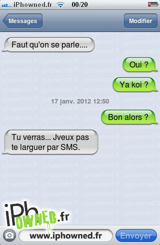 iPhowned, message sms drole, texto rigolo, blagues